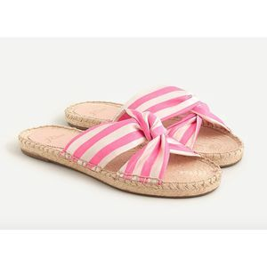 J.Crew Twisted knot espadrille sandals stripe 9.5M